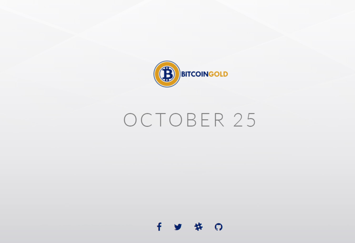 Bitcoin Gold Splash Screen