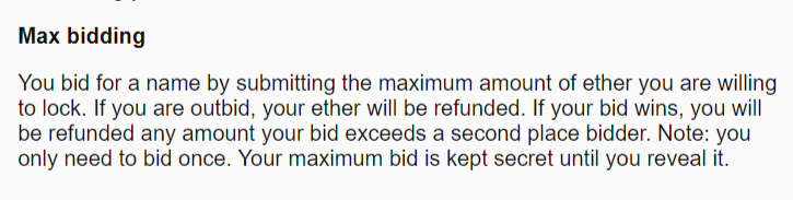 Ethereum Name Server auction process