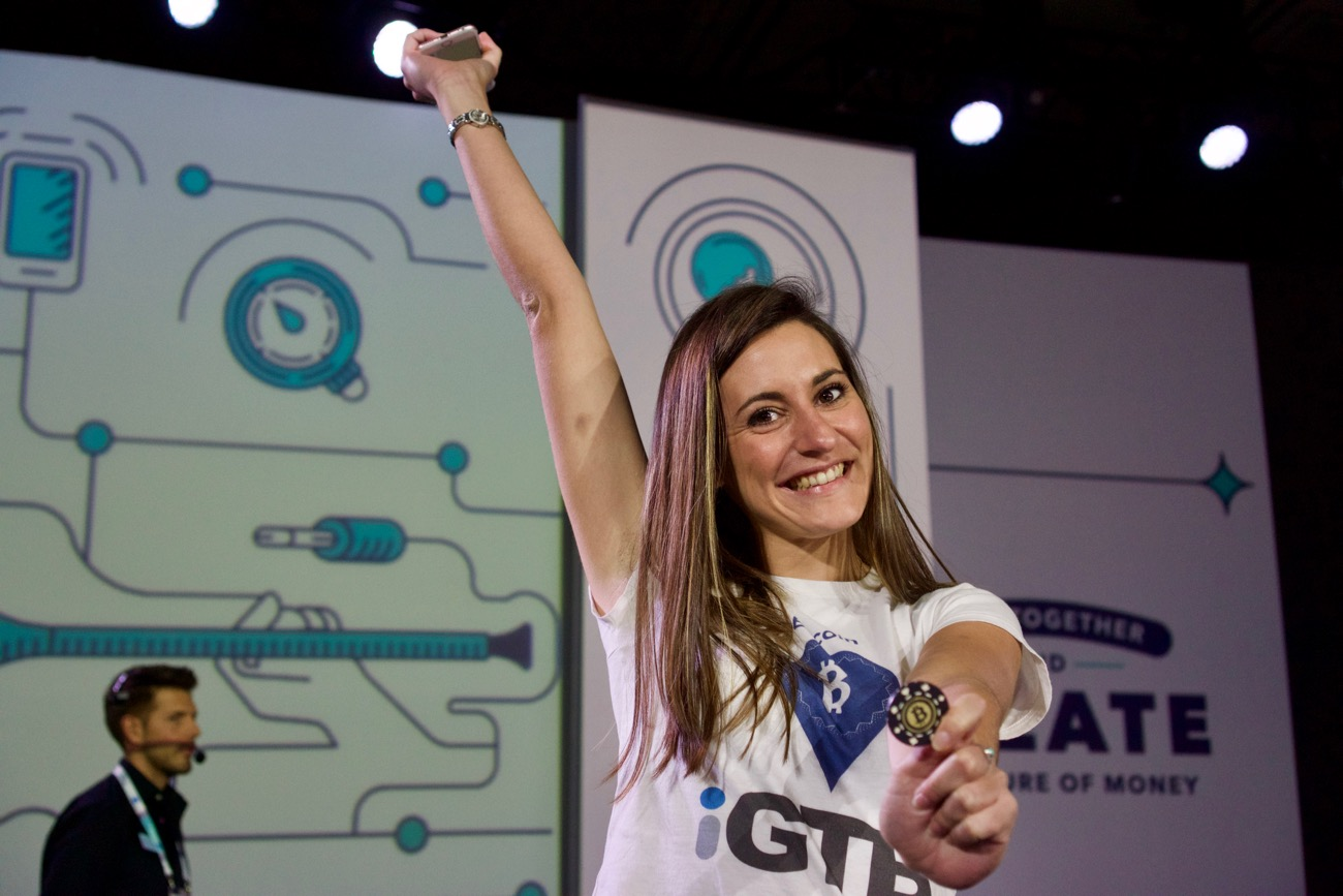 Amelie Arras Money 2020 Bitcoin Race Winner