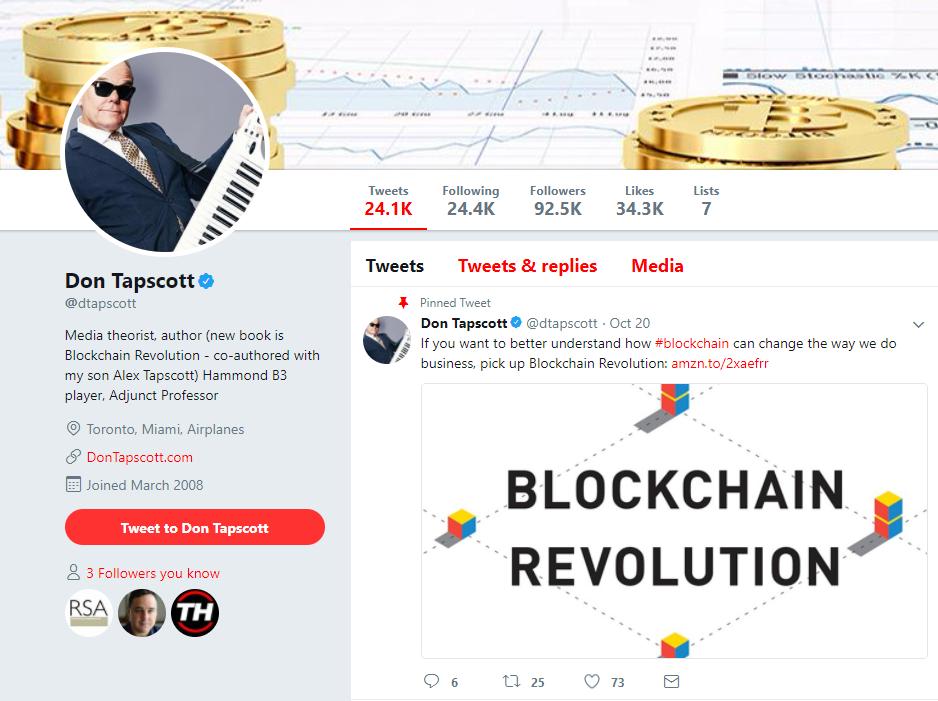 Don Tapscott Twitter