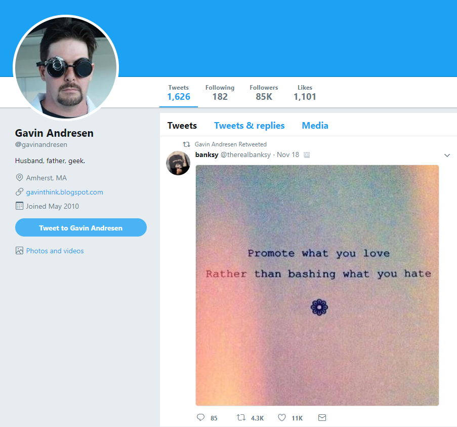 Gavin Andresen Twitter