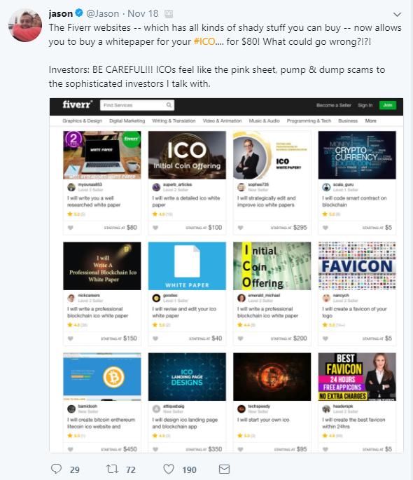 Buy ICO Fiverr Twitter