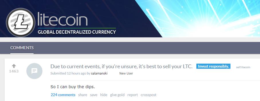 Litecoin Reddit buy dip
