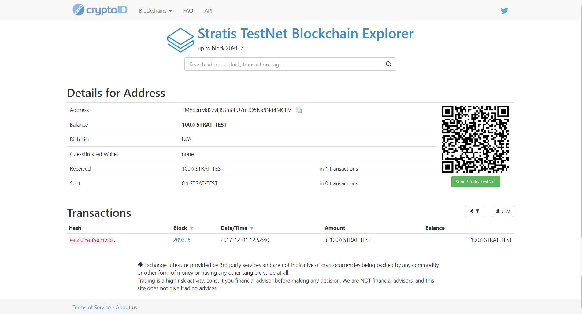 Stratis test ICO step 12