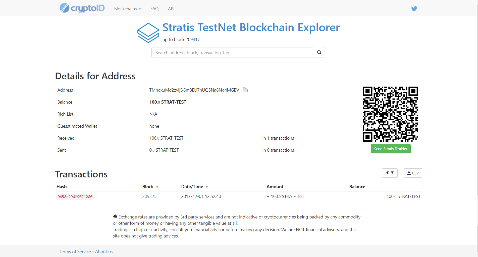 Stratis test ICO step 12
