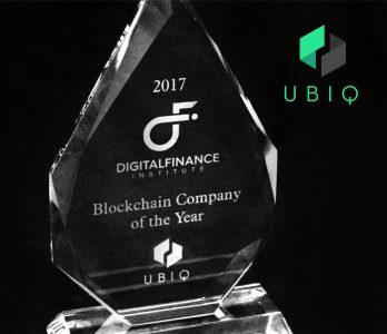 Ubiq blockchain company of the year Canada 2017