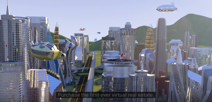 Decentraland cityscape mockup