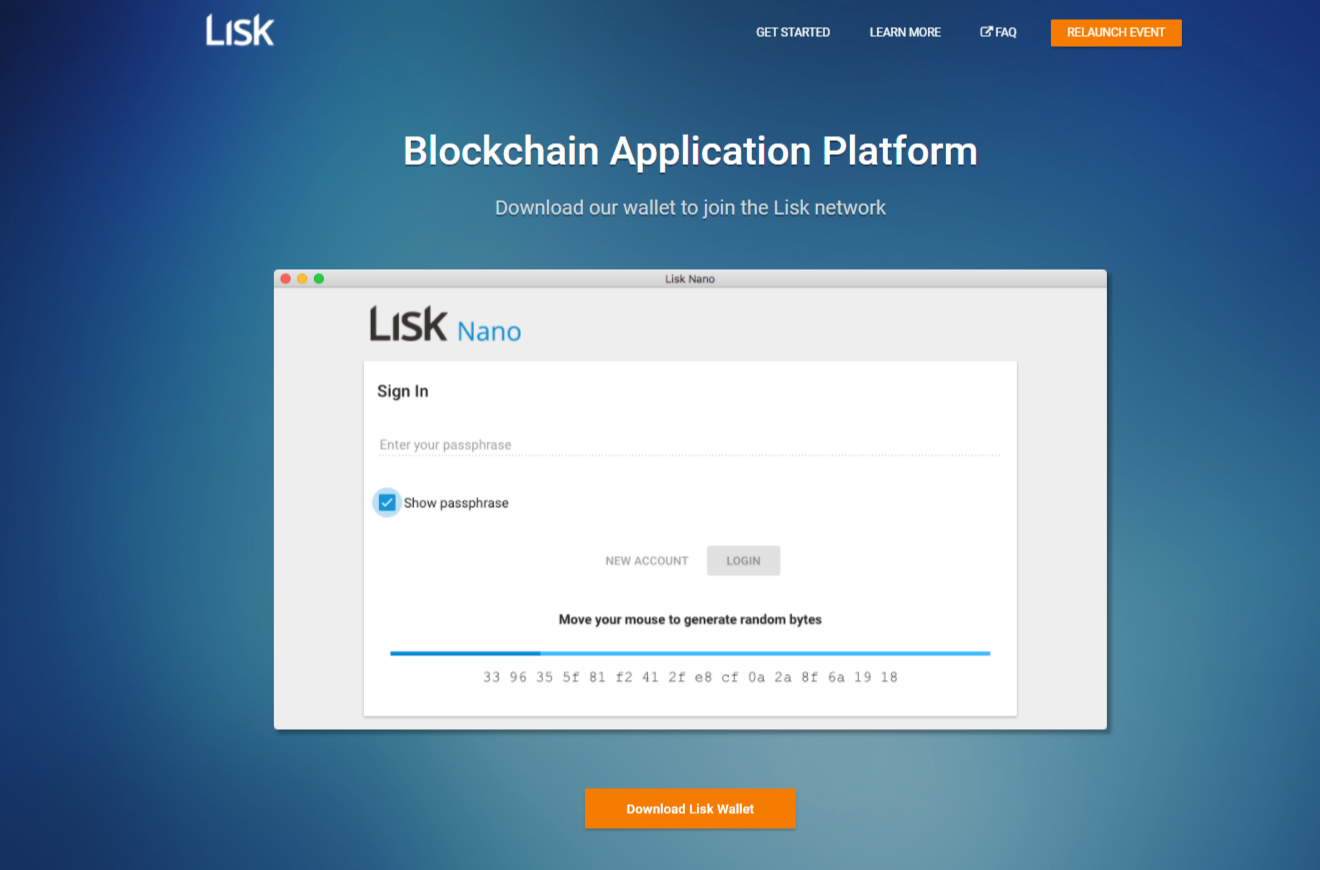 Lisk home page old