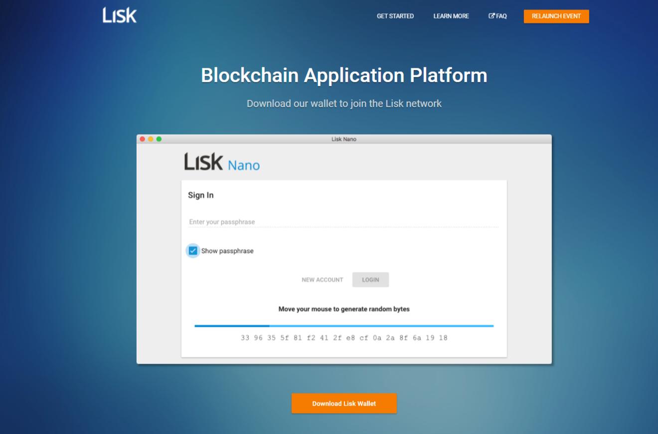 Lisk home page old