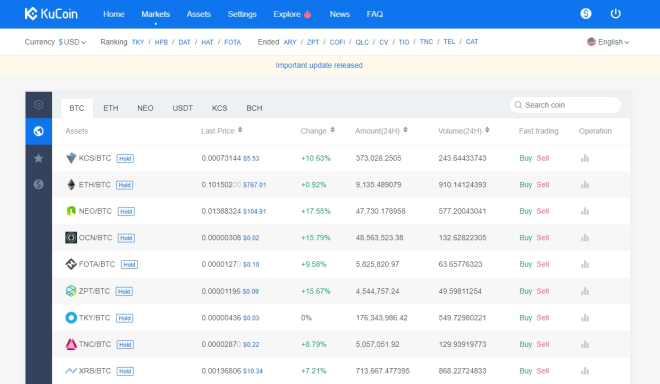 Top Cryptocurrency Exchanges - KuCoin