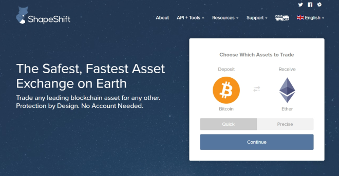 Top Cryptocurrency Exchanges - ShapeShift