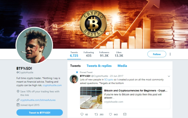 who to follow on twitter cryptocurrency