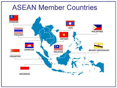 ASEAN member countries map