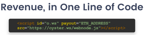 Oyster Pearl One Line of Code