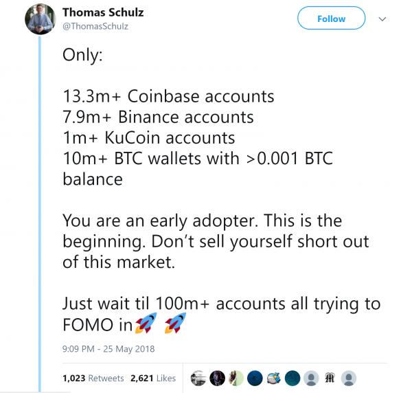Thomas Schulz Cryptocurrency Blockchain accounts tweet