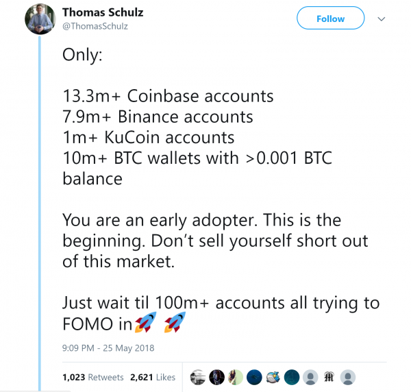 Thomas Schulz Cryptocurrency Blockchain accounts tweet