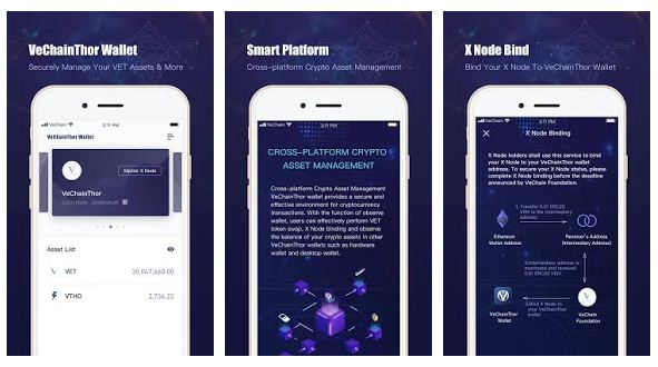 VeChain mobile wallet