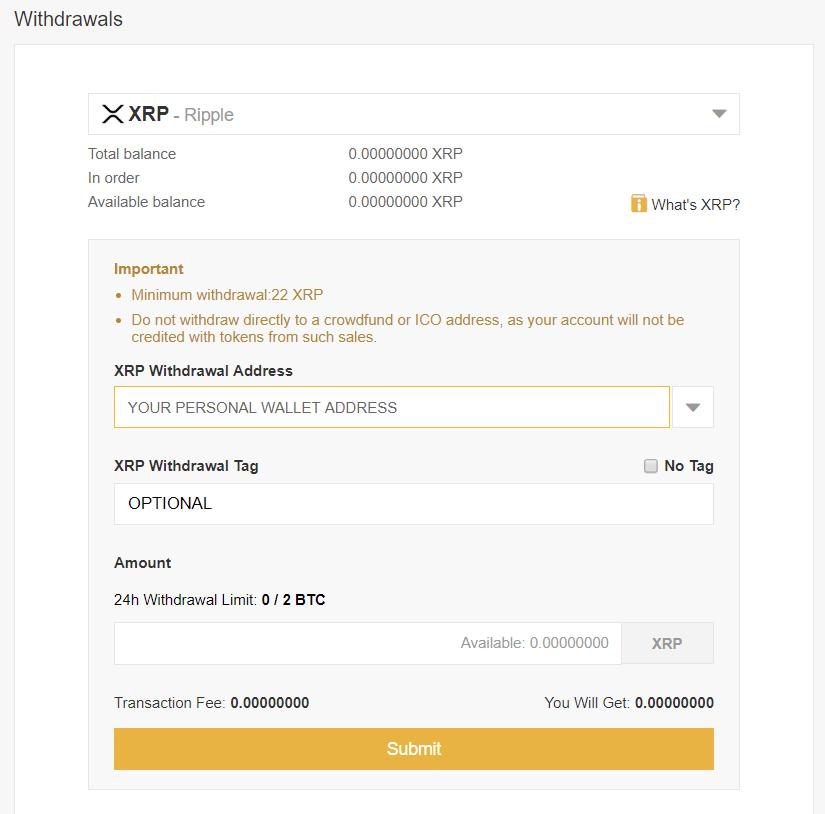 XRPbinancewithdrawl - How to Buy Ripple (XRP)