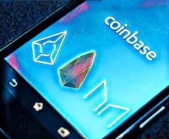 Coinbase EOS MKR REP