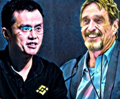 CZ Binance John McAfee Hack