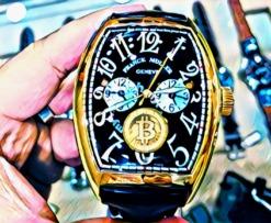 Luxury swiss watch Franck muller encrypto bitcoin btc