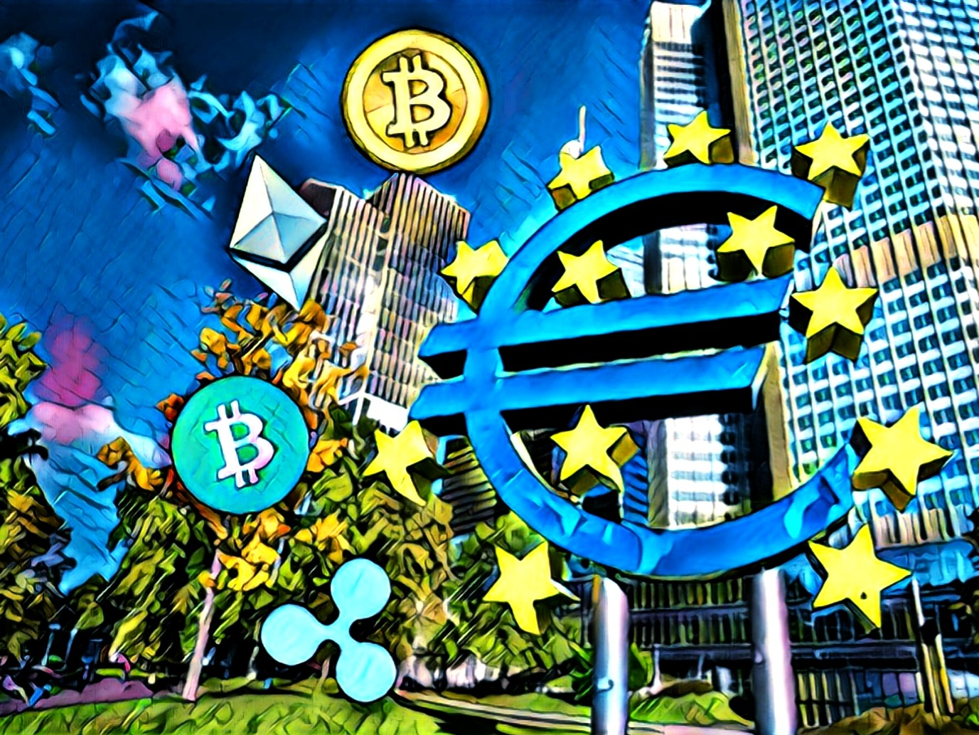 European Central Bank BTC ETH BCH XRP